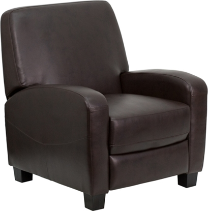 Picture of Flash Furniture DSC01067 Brown Leather Recliner