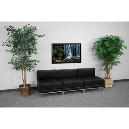 Picture of Flash Furniture ZB-IMAG-Middle-GG 3 Seat Reception Sofa