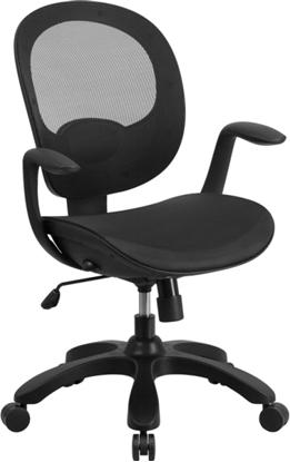 Picture of Flash Furniture CS-YAPI Black Mesh Back Chair