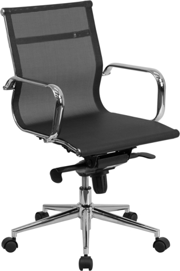 Picture of Flash Furniture BT-2768M Black Mesh Office Chair