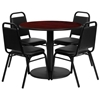"Picture of Flash Furniture RSRB100X 36"" Round Table w 4 Chairs"