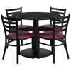 "Picture of Flash Furniture RSRB100 36"" Round Table w 4 Chairs"