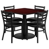 "Picture of Flash Furniture RSRB101 36"" Square Table w 4 Chairs"