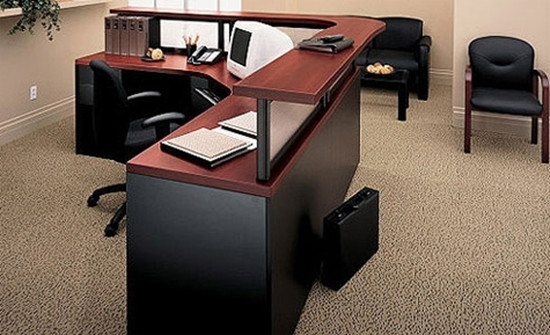 Picture Of Global C2442 L Shaped Reception Desk