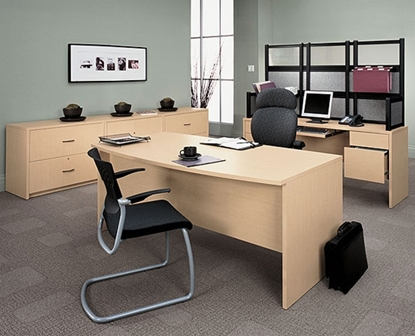 Picture of Global G3672DPB Office Group Desk Set