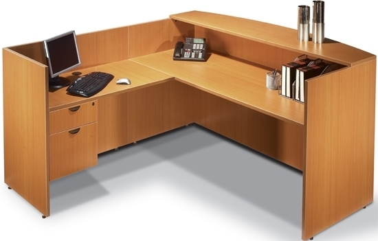 Picture Of Offices To Go SL7130RDS L Shaped Reception Desk