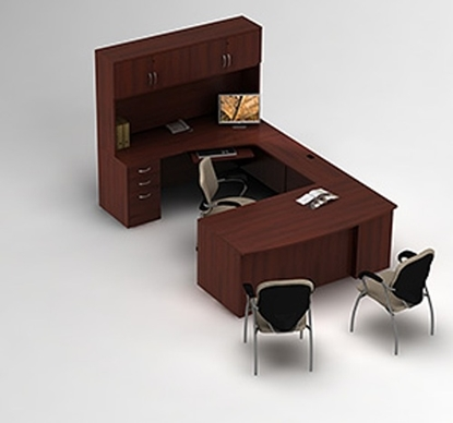 Picture of Global Layout 5 U Shaped Desk with Hutch