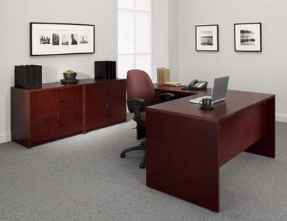 Picture of Global G5SL L Shaped Desk with File Cabinet