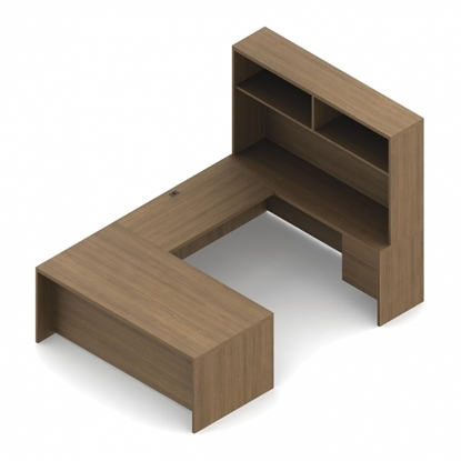 Picture of Global COR508L U Shaped Desk with Hutch