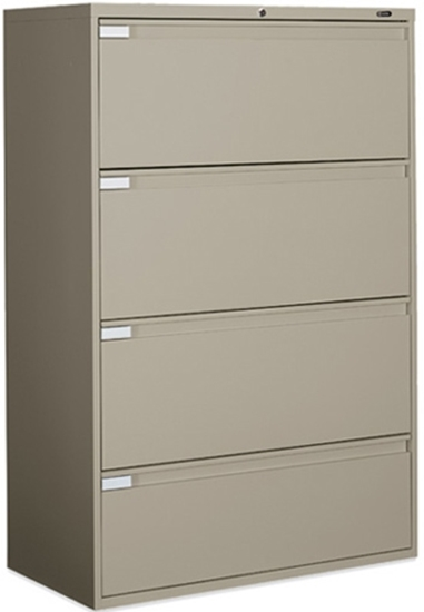 Picture Of Global 9336P 4F1H 4 Drawer Lateral File Cabinet