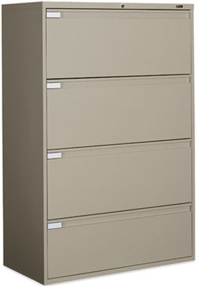 Picture of Global 9342P-4F1H Lateral File Cabinet with 4 Drawers
