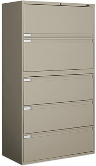 Merveilleux Picture Of Global 9342P 5F1H 5 Drawer Lateral File