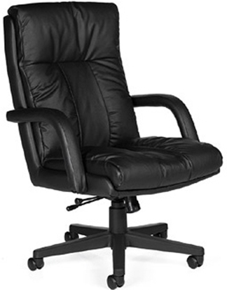 Picture of Global 3966 Black Leather Office Chair