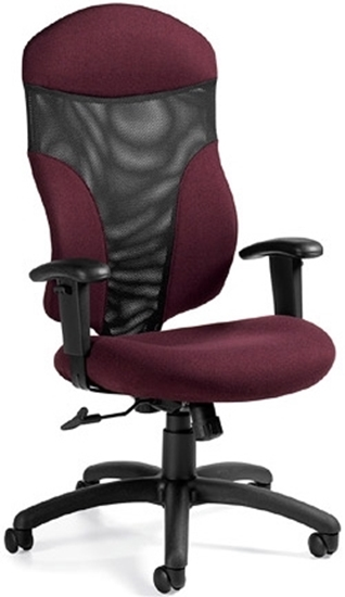 Picture Of Global 1950 4 High Back Mesh Office Chair