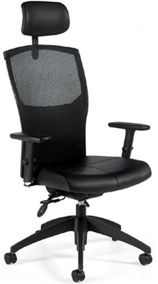 Picture of Global 1960LM-3 Executive Mesh Back Office Chair