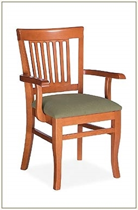 Picture of Global GC3799 Slat Back Wood Dining Chair