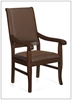 Picture of Global GC3800 High Back Wood Arm Chair