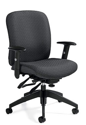 Picture of Global 5451-3 Black Mid Back Office Chair