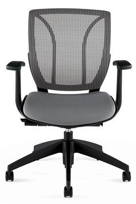 Picture of Global 1906 Black Mesh Mid Back Office Chair