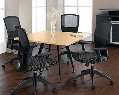 "Picture of Global GC36SF 36"" Square Conference Table"