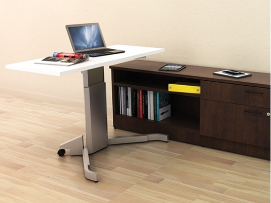 Height Adjustable Desk With Credenza Office Furniture
