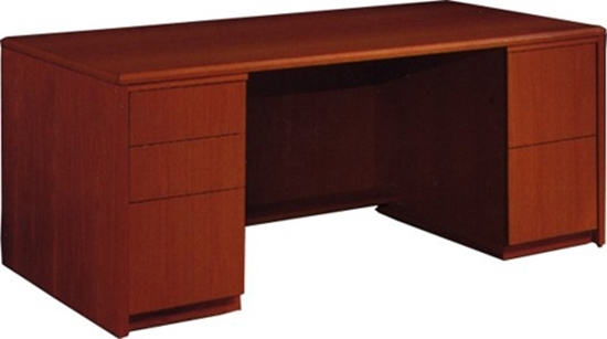 Executive Wood Desk With Drawers Jsi Furniture