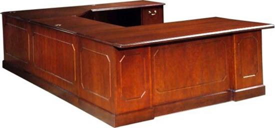 JSI BG3672LD U Shaped Desk with Wood Veneer