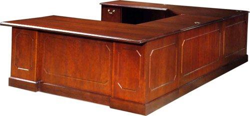 large u shaped desk executive office furniture. Black Bedroom Furniture Sets. Home Design Ideas