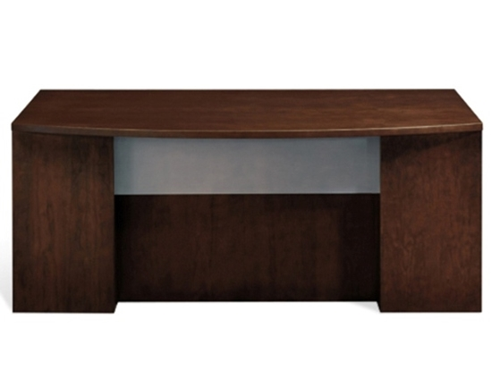Executive Desk With Glass Modesty Panel Jsi Furniture