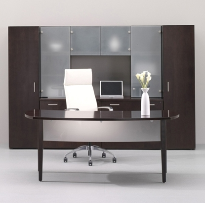 """Picture of JSI VL3672TD  72"""" Executive Desk with Storage Unit"""