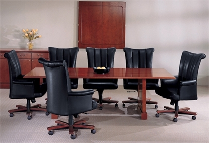 Picture of JSI BG4296CTP 8' Wood Conference Table