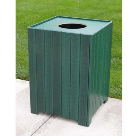 Picture of Jayhawk Plastics  PB32S Standard Square 32 Gallon Receptacle