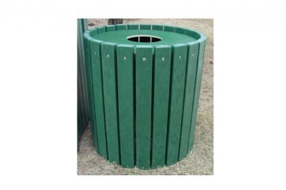 Picture of Jayhawk Plastics  PB55_HD Heavy-Duty Round 55 Gallon Trash Receptacle