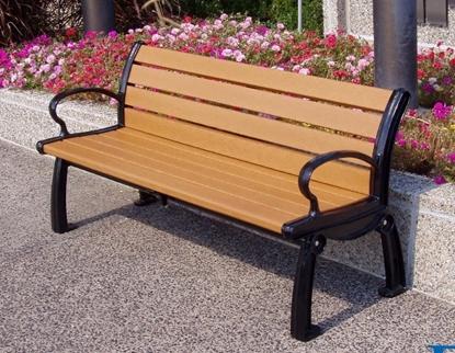 Picture of Jayhawk Plastics  PB5_HER Heritage 5' Bench