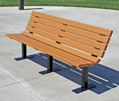 Picture of Jayhawk Plastics  PB4_BFCON Contour 4' Bench
