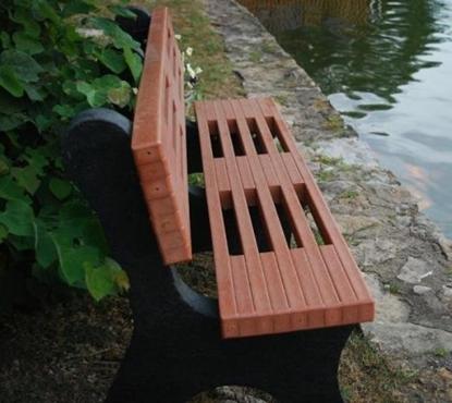 Picture of Jayhawk Plastics  PB4_ARIEL Ariel 4' Bench