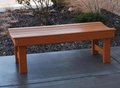 Picture of Jayhawk Plastics  PB4_GAR Garden Bench 4'