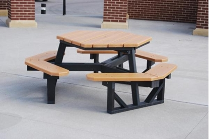 Picture of Jayhawk Plastics  PB6HEX 6' Outdoor Picnic Table