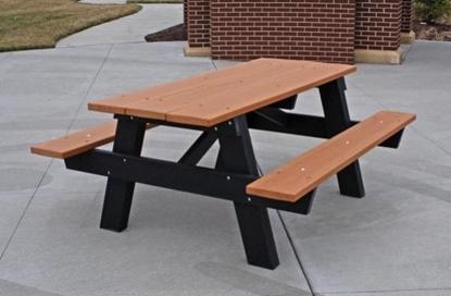 Picture of Jayhawk Plastics  PBAPlC6 A Frame 6' Picnic Table