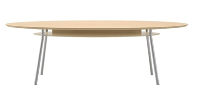 """Picture of Lesro MT7196 96"""" Conference Table with Shelf"""