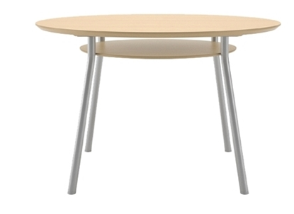 "Picture of Lesro MT5148 48"" Round Conference Table with Shelf"