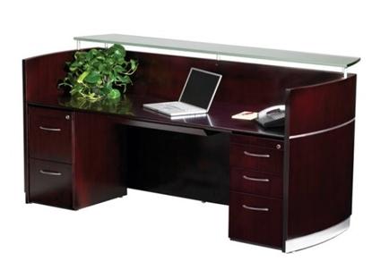 Picture of Safco NRSBF Wood Veneer Reception Desk