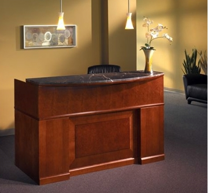 Picture of Safco SRCDM Wood Veneer Reception Desk