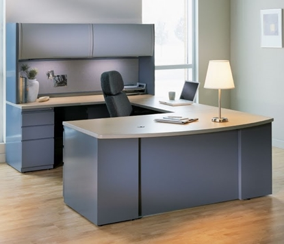Picture of Safco CST5 U Shaped Desk with Hutch