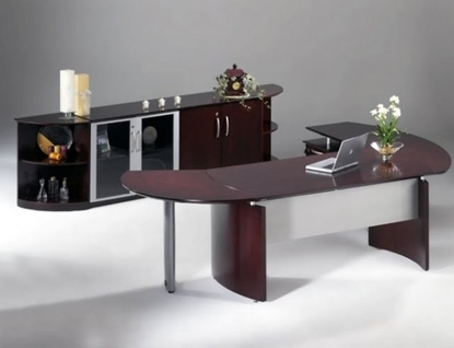 Picture of Safco NT9 Executive Desk with Cabinet