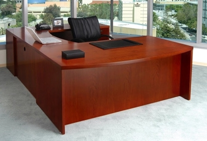 Picture of Safco MEU3 U Shaped Desk with Wood Veneer