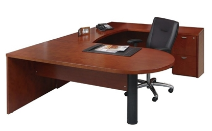 Picture of Safco MEU4 U Shaped Desk with Drawers