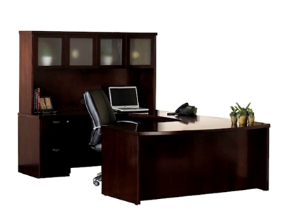 Picture of Safco MEU1 U Shaped Desk with Hutch