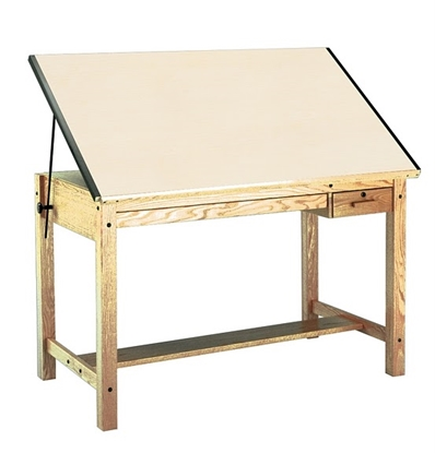 Picture of Mayline 7706B Oak Wood Drafting Table