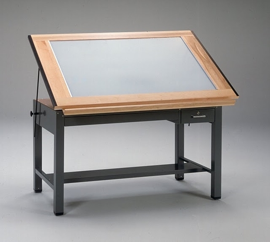 Picture Of Mayline 7734BLT Lighted Drafting Table